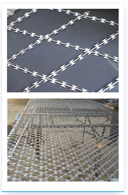 直線型刀片刺絲-焊接刀片刺網-直線型刀片刺網